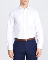 white Slim Fit Quick Iron Shirt