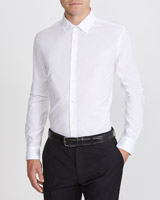 white Slim Fit Stretch Easy Care Shirt