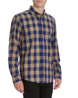 navy Regular Fit Grindle Style Shirt