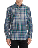 navy-check Regular Fit Twill Check Shirt