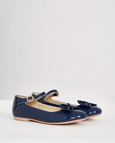 67c0e158a648 navy Paul Costelloe Living Bow Shoes