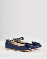 navy Paul Costelloe Living Bow Shoes
