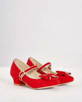 red Paul Costelloe Living Heeled Shoe
