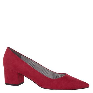 73616a6a98db raspberry Low Heel Court Shoe
