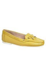 yellowLeather Driving Shoes