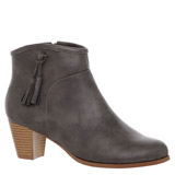 grey Tassel Western Ankle Boots