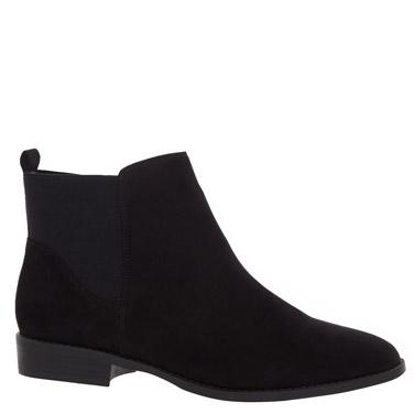 blackElastic Ankle Boots