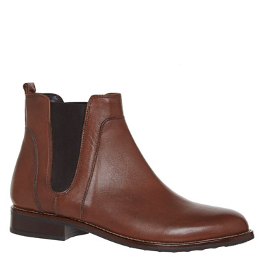 tanLeather Chelsea Ankle Boots