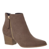 taupe Outside Zip Boots