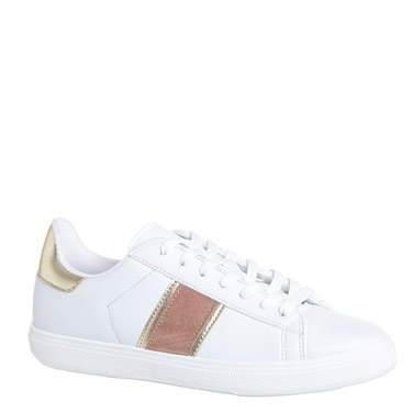 white-pinkSide Detail Lace Casual Shoes