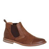 brown Stitch Chelsea Boots