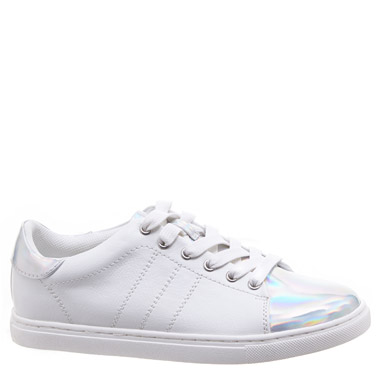 whiteOlder Girls Iridescent Shoes
