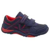 navy Boys Two Strap Shoes