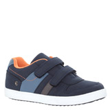 navy Boys Strap Shoe