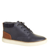 navy Boys Ankle Boots