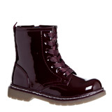 burgundy Younger Girls Lace Boots
