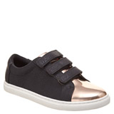 black Younger Girls Three Strap Casual Shoes