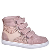 baby-pink Younger Girls Strap Hi-Tops