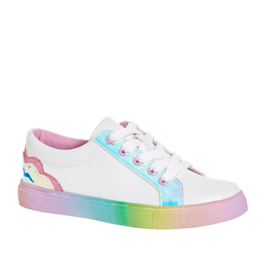 a2b9c3139ecf white Younger Girls Rainbow Shoes
