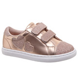 rose-gold Baby Girls Metallic Two Strap Casual Shoes