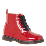 red Baby Girls Lace Up Boots