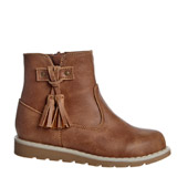 tan Baby Girls Ankle Boots