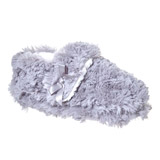 grey Younger Girls Fluffy Slippers