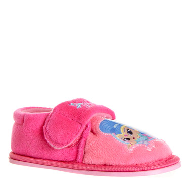 8787e8b90839 pink Younger Girls Shimmer And Shine Slippers