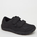 black Back To School Strap Sporty Shoes