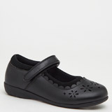 black Back To School Leather Coated Mary Janes