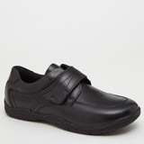 black Back To School Leather Shoes