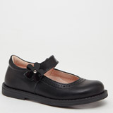 black Back-To-School Younger Girls Leather Mary Janes