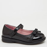 black Back-To-School Girls Patent Shoes