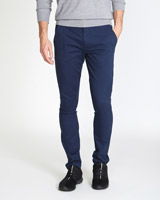 navy Skinny Chinos With Stretch