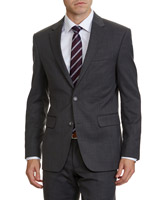 grey Regular Fit Wool Blend Jacket