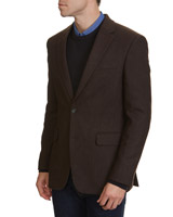 brown Wool Blend Blazer