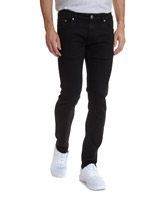 black Slim Fit Stretch Denim Jeans