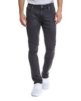 grey Slim Fit Stretch Denim Jeans