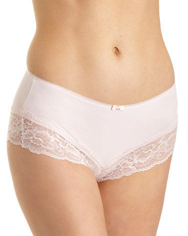 blush Lace Midi Briefs