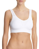 white Low Impact Non Wired Seamfree Bra