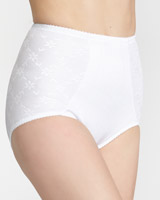white Firm Control High Waist Full Briefs