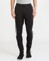 black Sports Track Bottoms