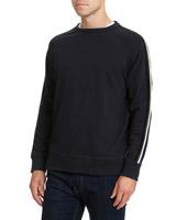 navyRib Detail Sweater