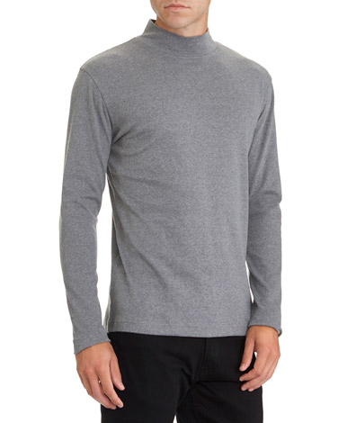 f2ada4129e char-marl Slim Fit Long Sleeve Turtle Neck Top
