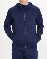 navy Hooded Track Top