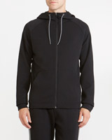 black Hooded Track Top