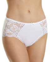 white Side Lace Panel Briefs