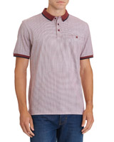 wine Regular Fit All Over Printed Polo