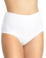 white Plain Full Briefs - Pack of 5