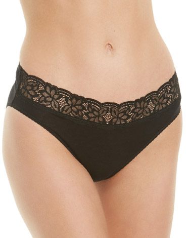 black Lace High Leg Briefs - Pack Of 5